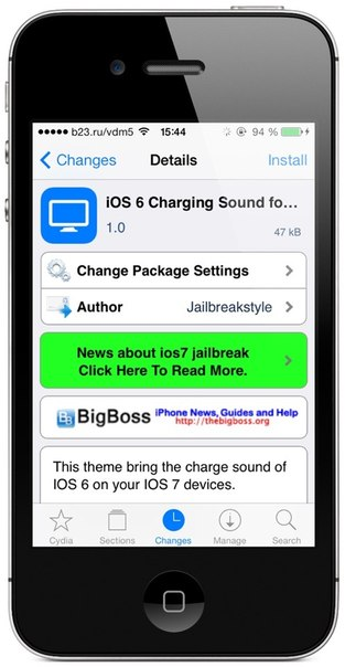 Название: iOS 6 Charging Sound for iOS 7
