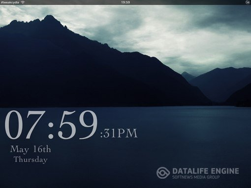 Название: Deep Blue Lockscreen